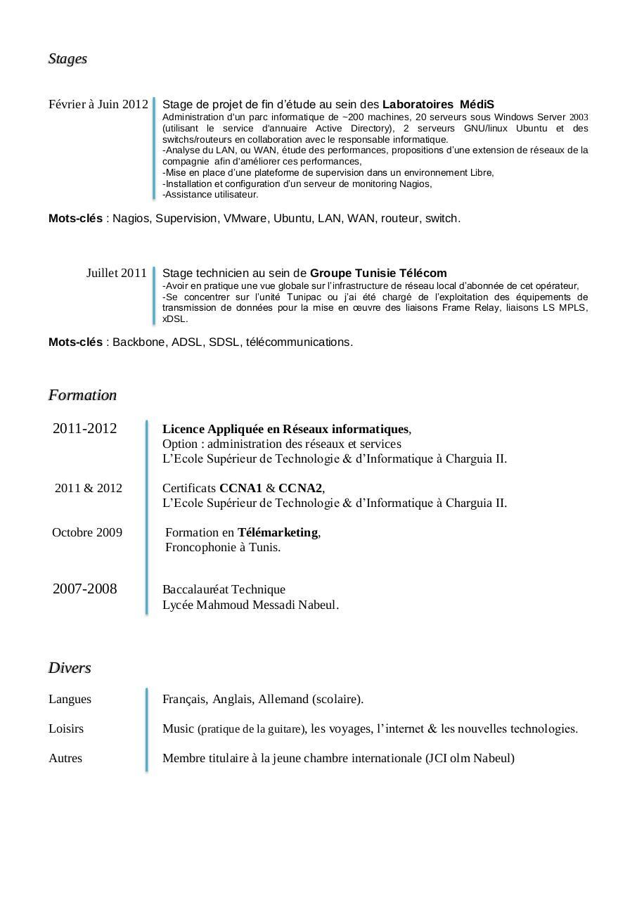 cv- ahmed ben othmen-informaticien pdf par ahmed
