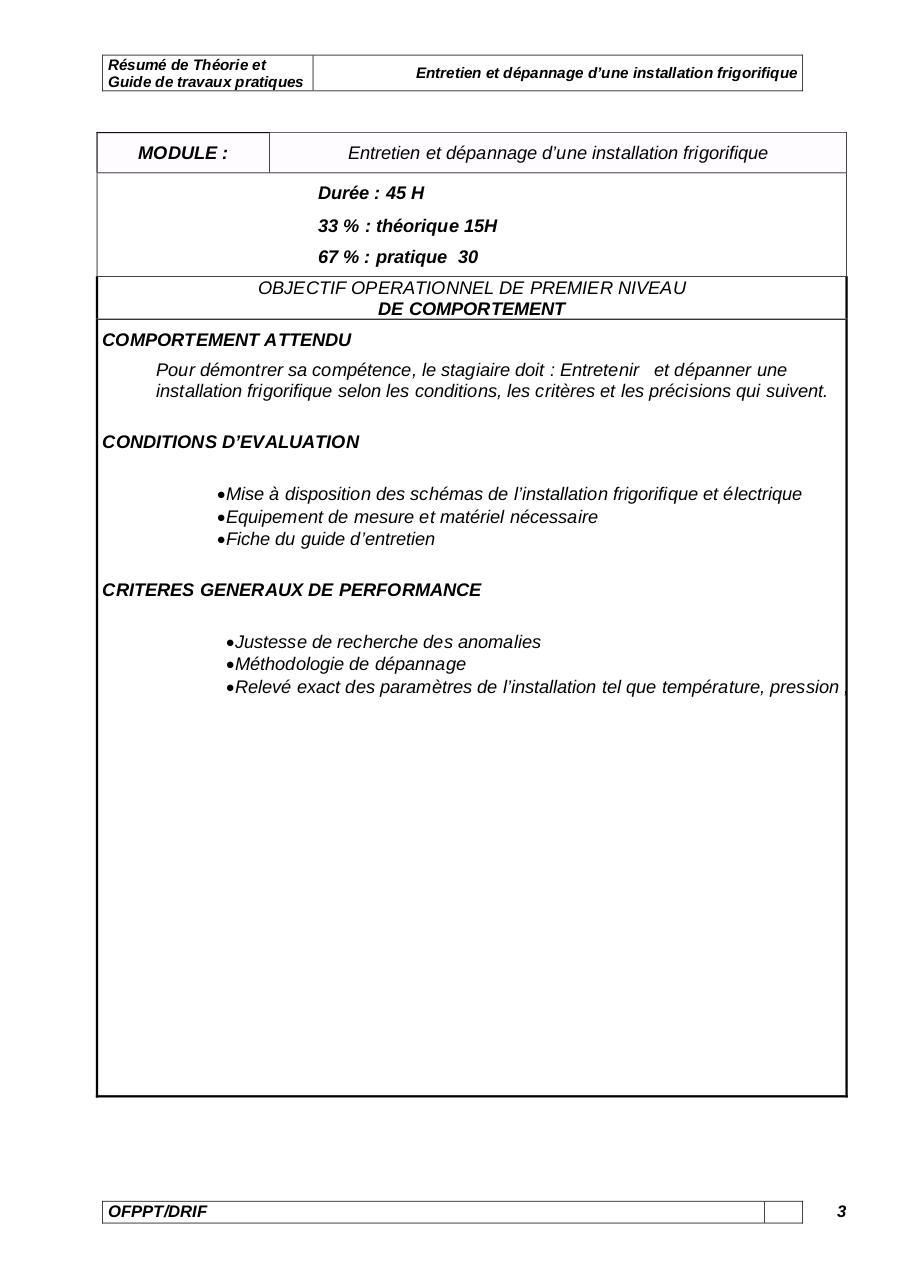 le technicien frigoriste pdf