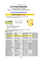 ordre de de part provisoire st comes 2013 2
