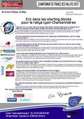 eric starting blocks pour le lyon charbonnieres