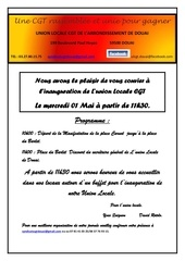 invitation inauguration union locale douai