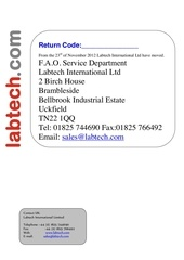 return code sheet for repairs
