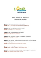 quizz oasis 12 04 2013