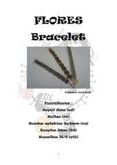 Fichier PDF bracelet flores