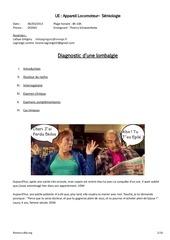 diagnostic d une lombalgie 06 03 2013 08h