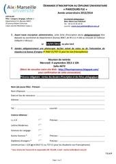 Fichier PDF dossier candidature du parcours fle