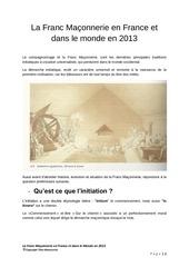 franc maconnerie 2013