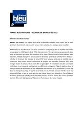 france bleu provence 16 01 13