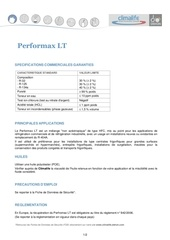 performax lt fiche technique