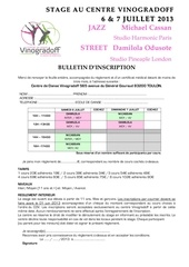le bulletin stage ete 2013