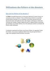 Fichier PDF fichiers et dossiers