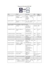 programme doctoriales hec 2013