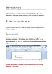 word ecrire un texte