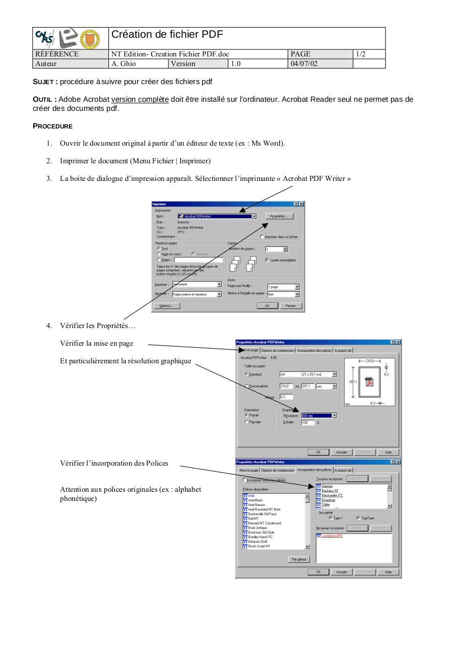 Instructions Pour La Création De Fichiers Pdf Prêts à Imprimer Dans