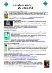 les bons plans du week end semaine n 16 2013