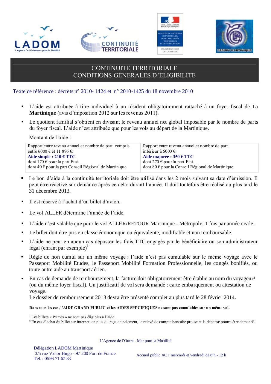 Martinique Dossier Ct 2013 Fichier Pdf