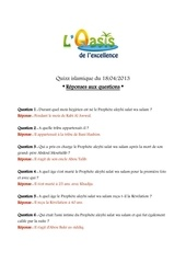 quizz oasis 18 04 2013