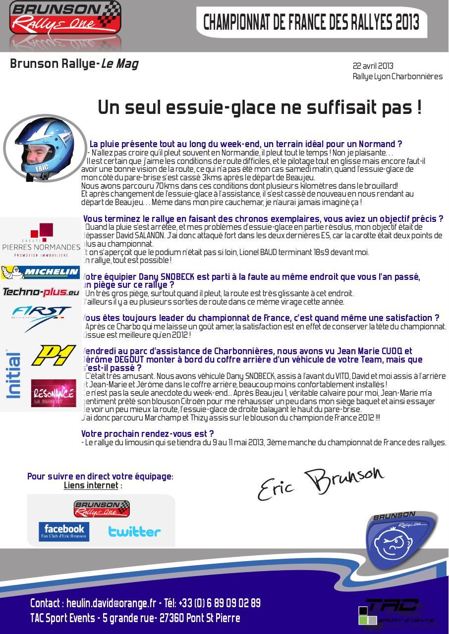Aperçu Brunson Rallye Le Mag Un seul essuie-glace ne suffisait pas.pdf - Page 1/1