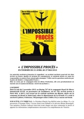 dossier presse de l impossible proc s