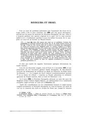 bourguiba et israel