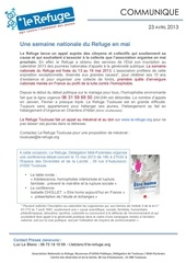la semaine nationale du refuge2