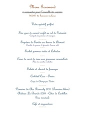 menu gourmand mai 2013