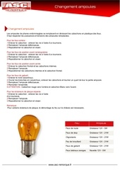 changement ampoules asc remorques