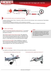 commande de freinage a inertie asc remorques
