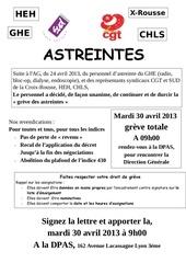 astreintes l ag du 24 avril 2013 appel a la greve