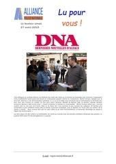 lu pour vous dna 27 04 2013