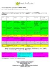 planning du mois de mai 2013