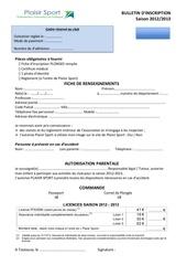 Fichier PDF bulletin adhesion plaisir sport plongee