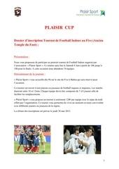 dossier d inscription plaisir cup 28 04 13 1