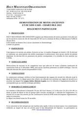 reglement particulier 2013