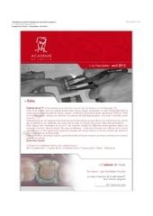 academie du sourire la newsletter avril 2013