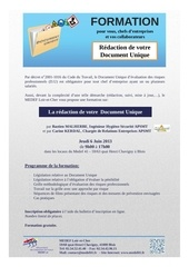 formation redaction de votre document unique e mail