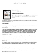 guide utilisation ipad