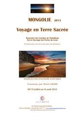 mongolie 1 1 1 programme 2013