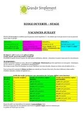 ecole ouverte juillet 2013
