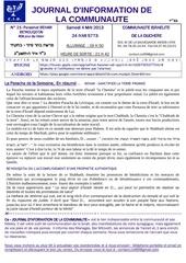 journal de la communaute cid n 21 behar behoukotai