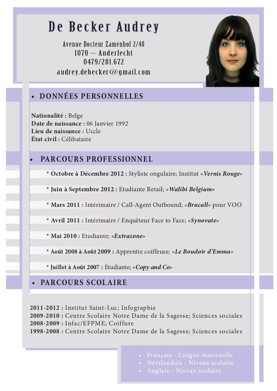 de becker audrey cv  de becker audrey cv pdf