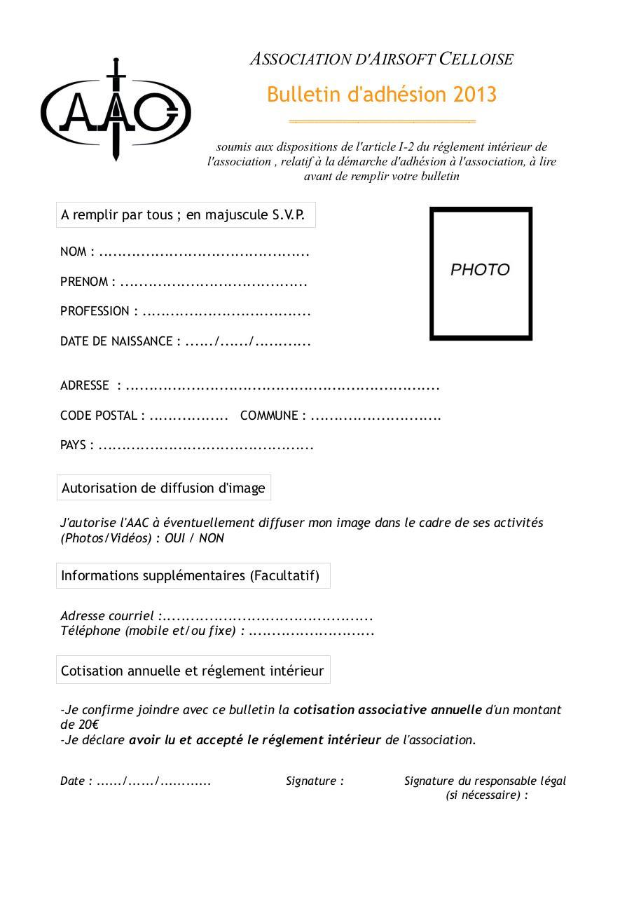 Bulletin 2013 bulletin fichier pdf for Reglement interieur association pdf