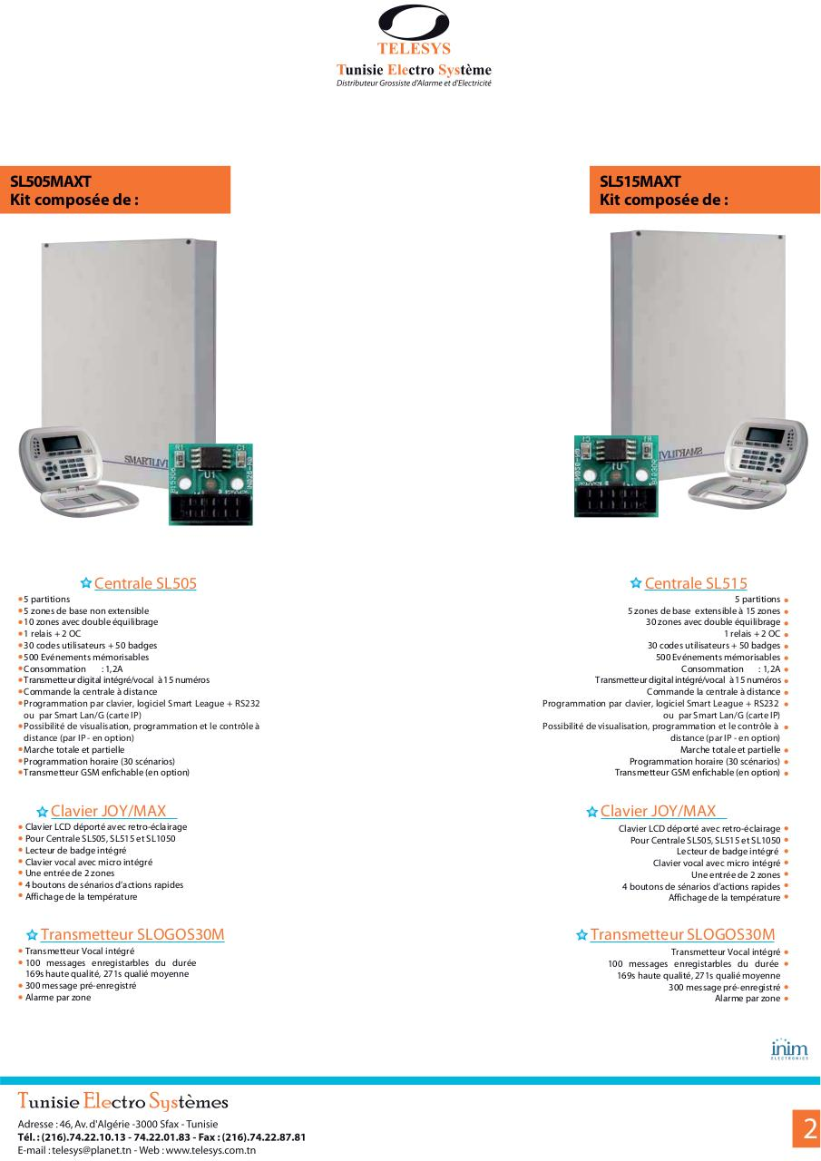 Catalogue inim Alarme 2013.pdf - page 2/8