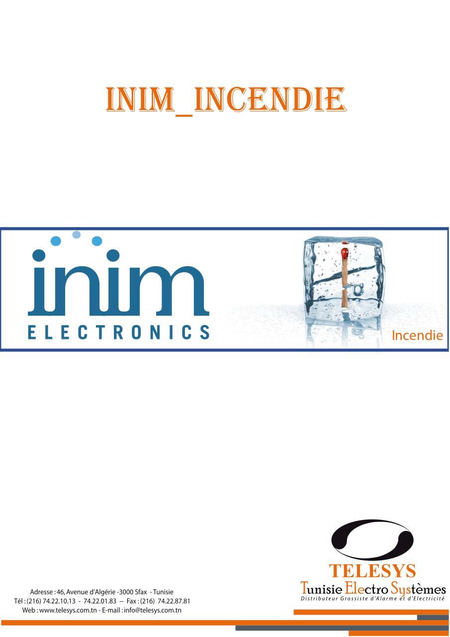 catalogue inim incendie 2013 par techcomm1 fichier pdf. Black Bedroom Furniture Sets. Home Design Ideas