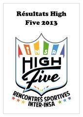 resultats high five 2013