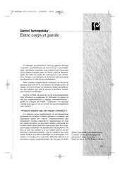 Fichier PDF entre corps et parole