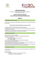 Fichier PDF reglement concours karaoke 2013