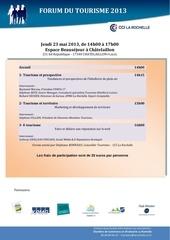 forum du tourisme 23 05 2013