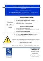 Fichier PDF documents adhesion