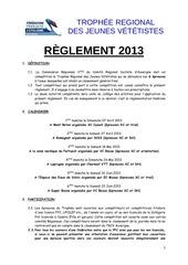 reglement trjv 2013